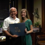 Sheriif Jay Russell Presents Scholarship to Mallory Anne Lynn